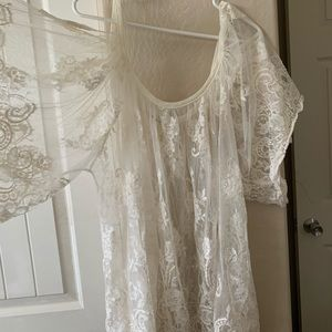 M/L oversized see through blouse